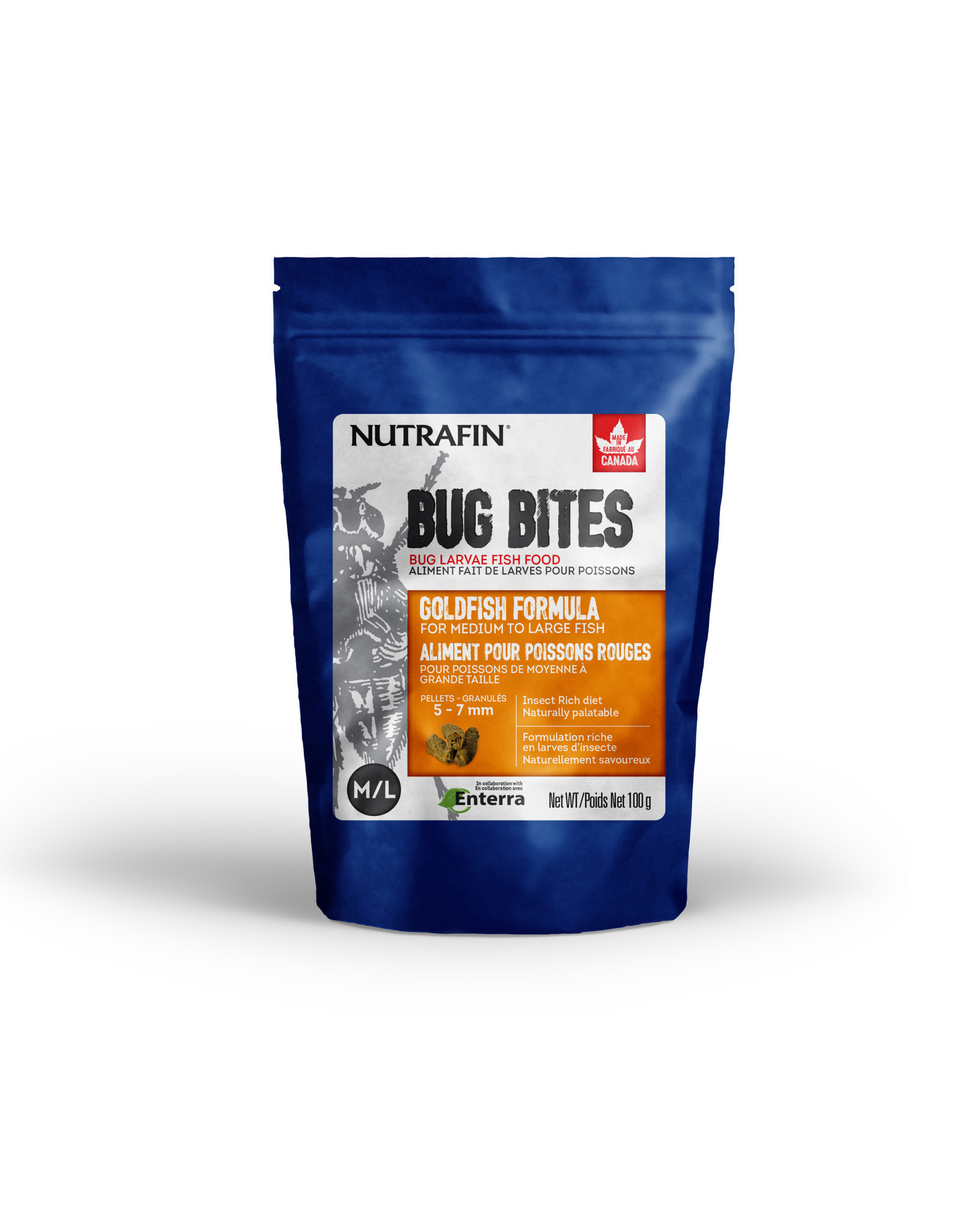 Nutrafin Bug Bites Goldfish Medium-Large 5-7mm Sticks for Goldfish