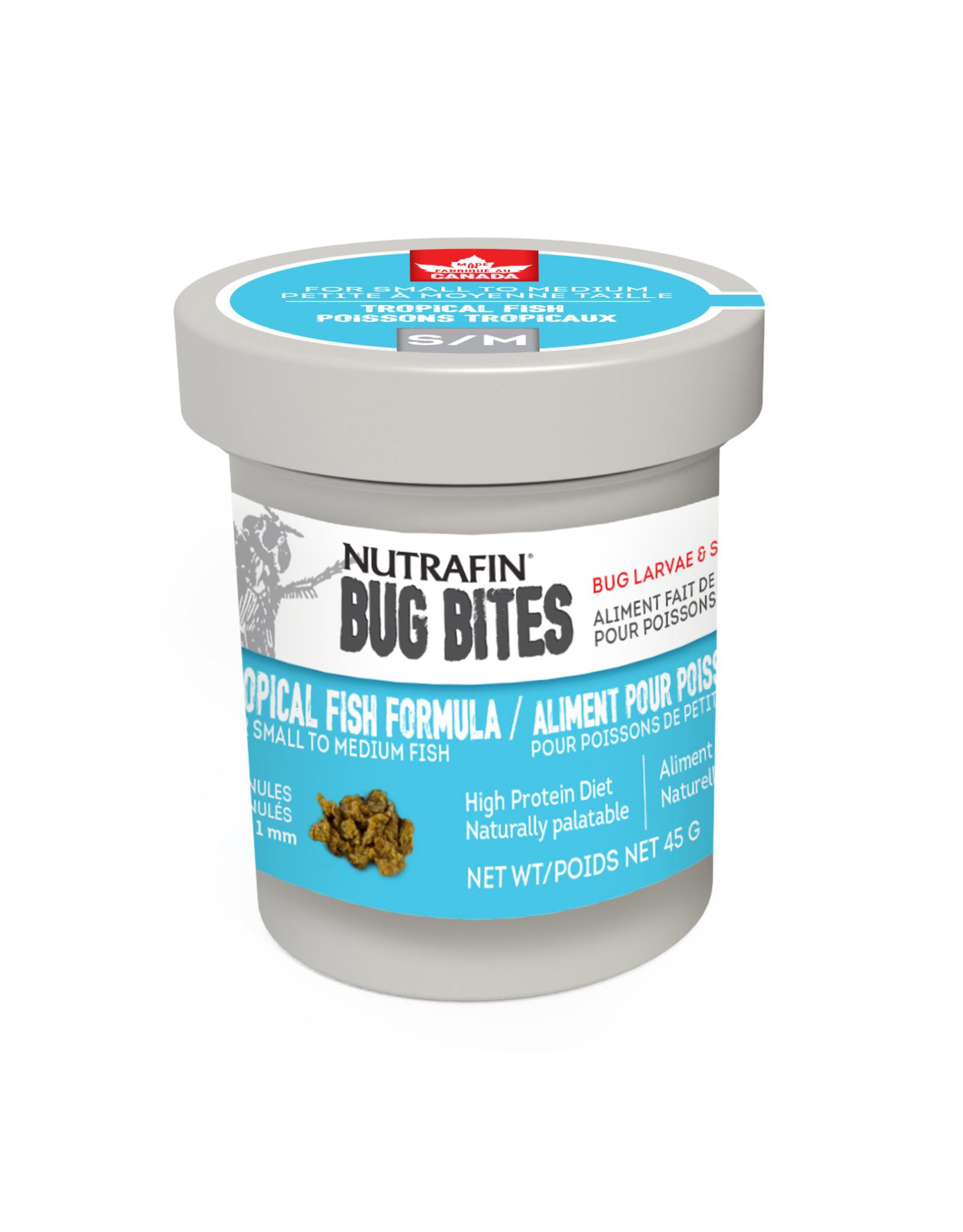 Nutrafin Bug Bites Tropical - Small-Medium - 0.7-1.0mm - Granules for Tetras/ Rasboras/ Danios