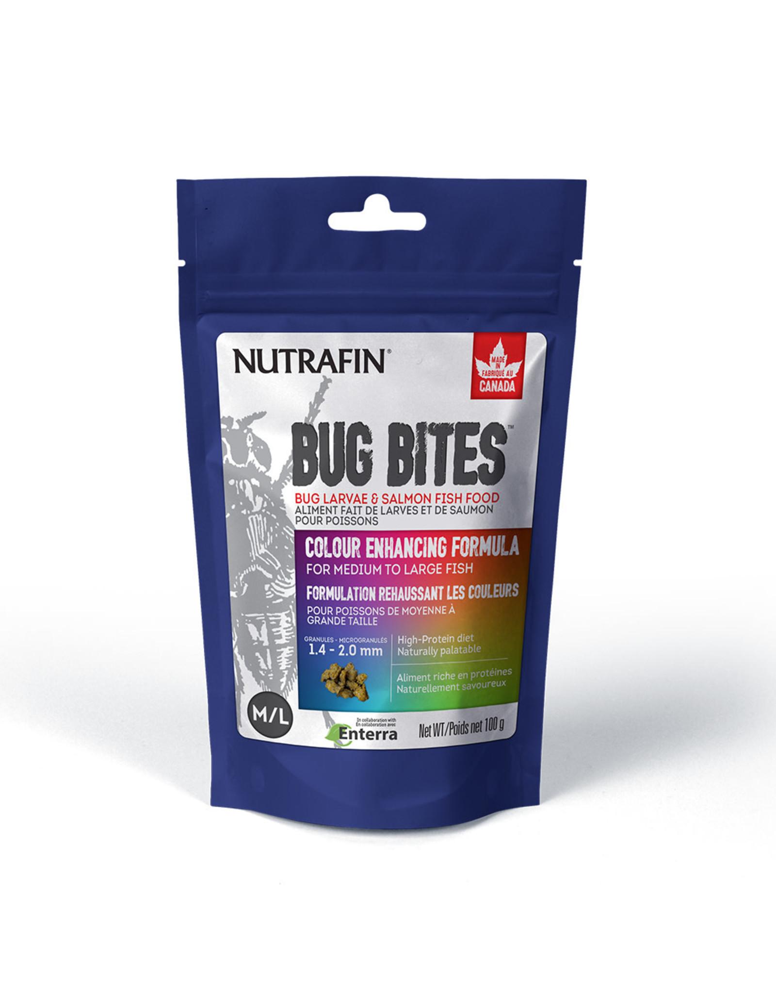 Nutrafin Bug Bites Colour Enhancing Formula Medium to Large Fish 1.4-2.0mm granules 100g (3.5oz)