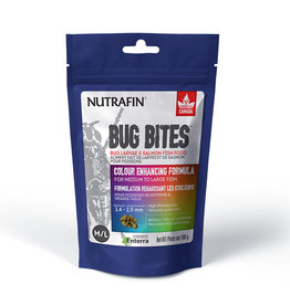 Nutrafin Bug Bites Colour Enhancing Formula Medium to Large Fish 1.4-2.0mm granules 100g (3.5oz)