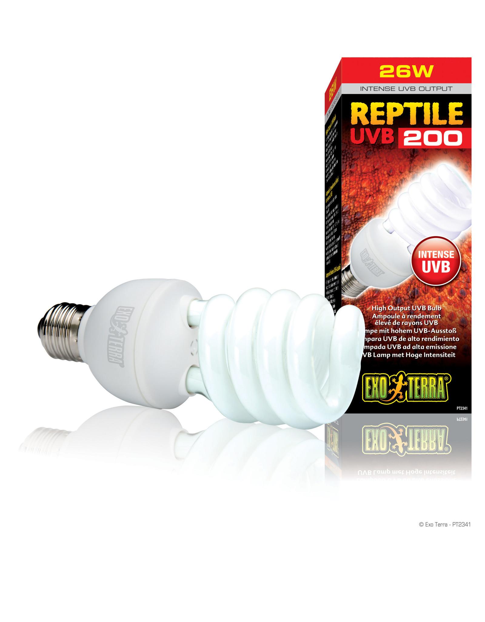 Exo Terra Reptile UVB200 High Output UVB Bulb - 26 W