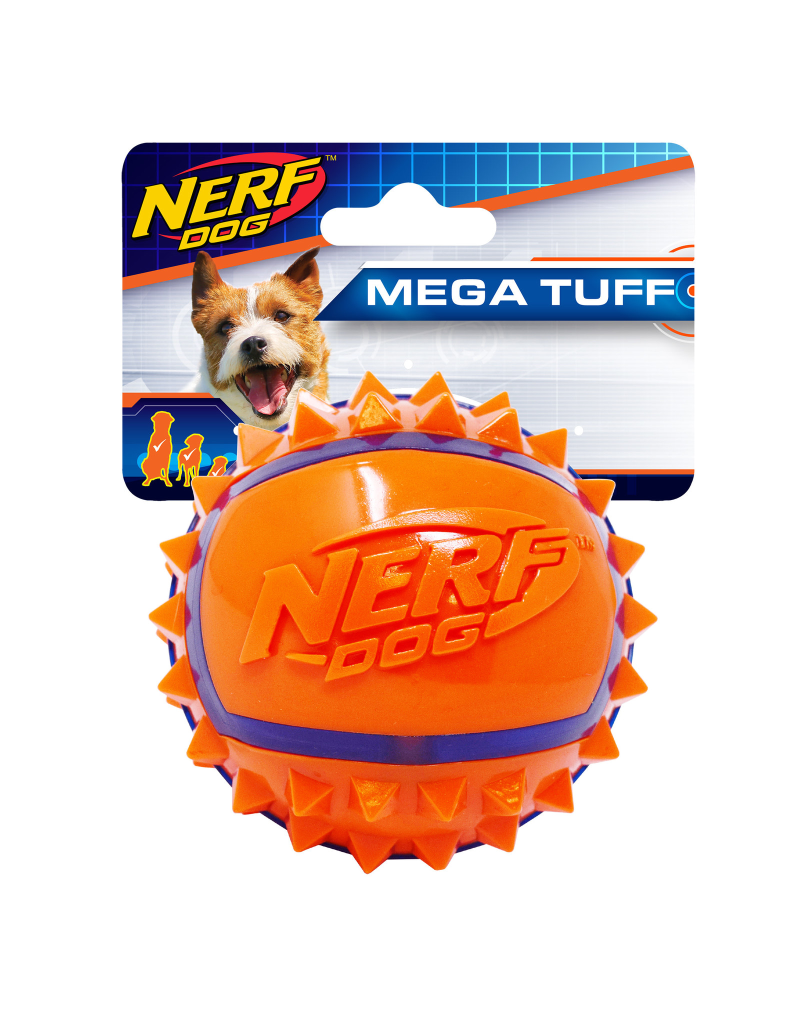 Nerf Nerf Dog Two-Tone TPR Spike Ball - Small - 2.5 in