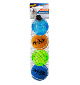Puppy TPR Sonic/Tennis Ball 4pk
