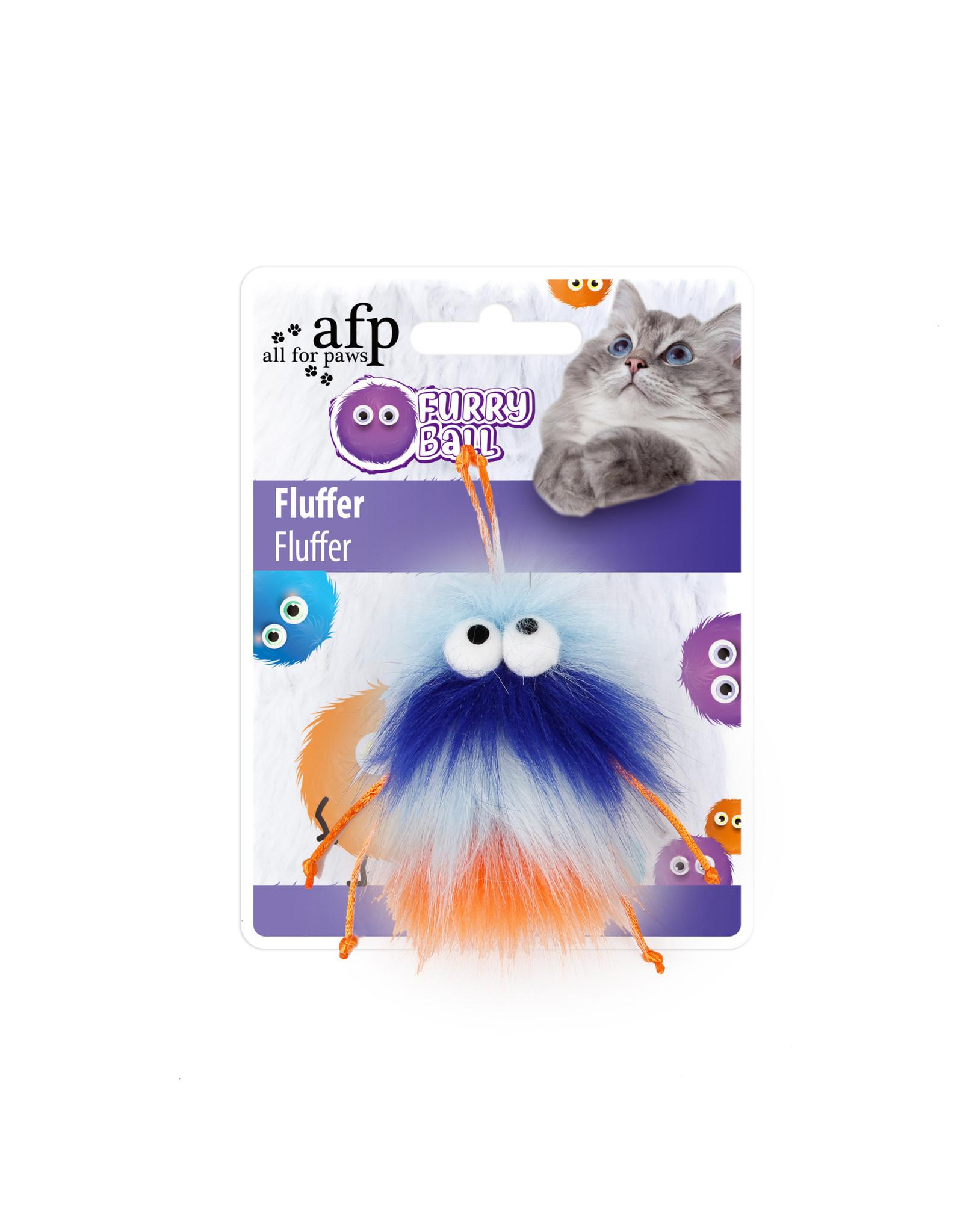 All for Paws Furry Ball Fluffer Orange