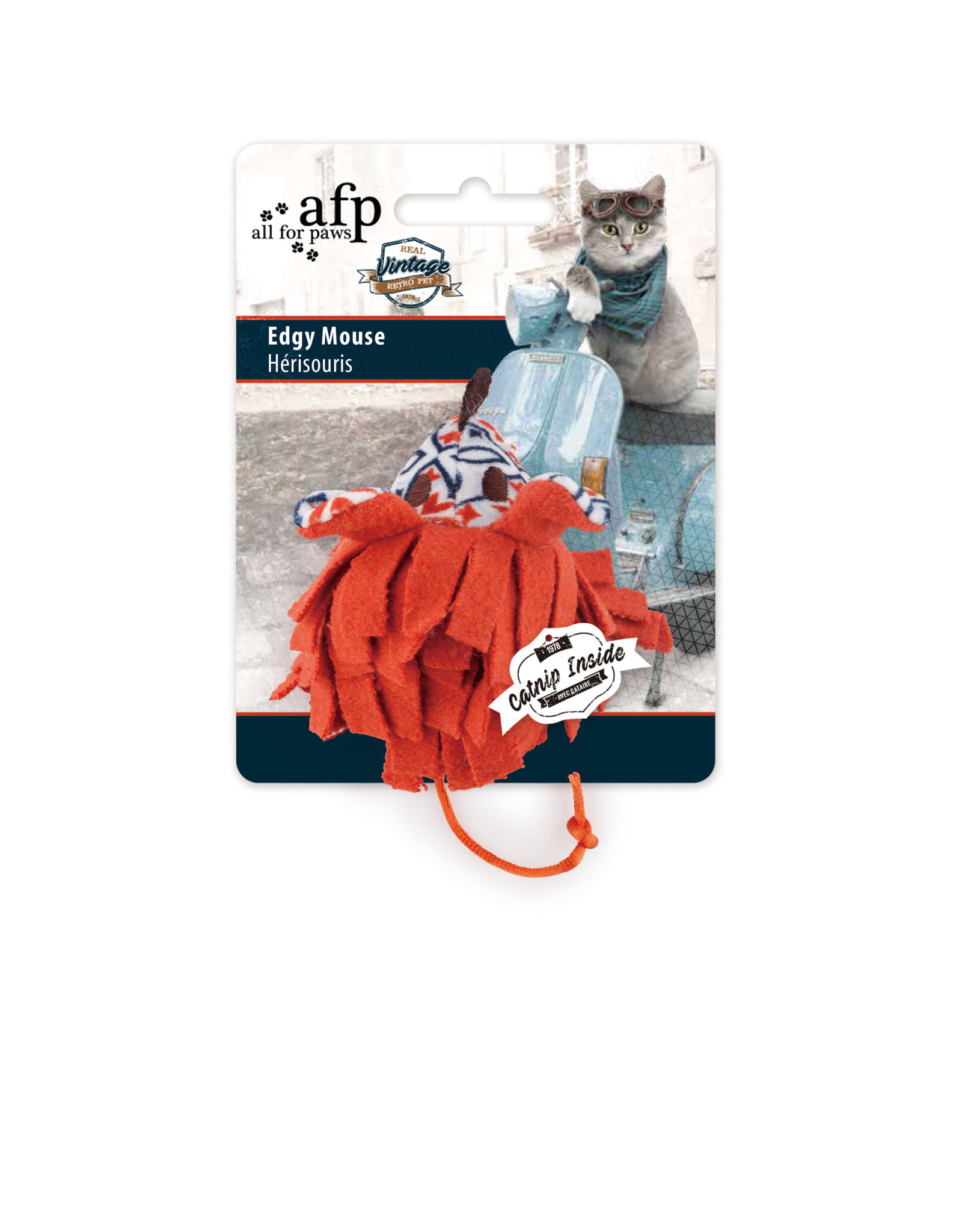 All for Paws Vintage Cat Edgy Mouse Assorted