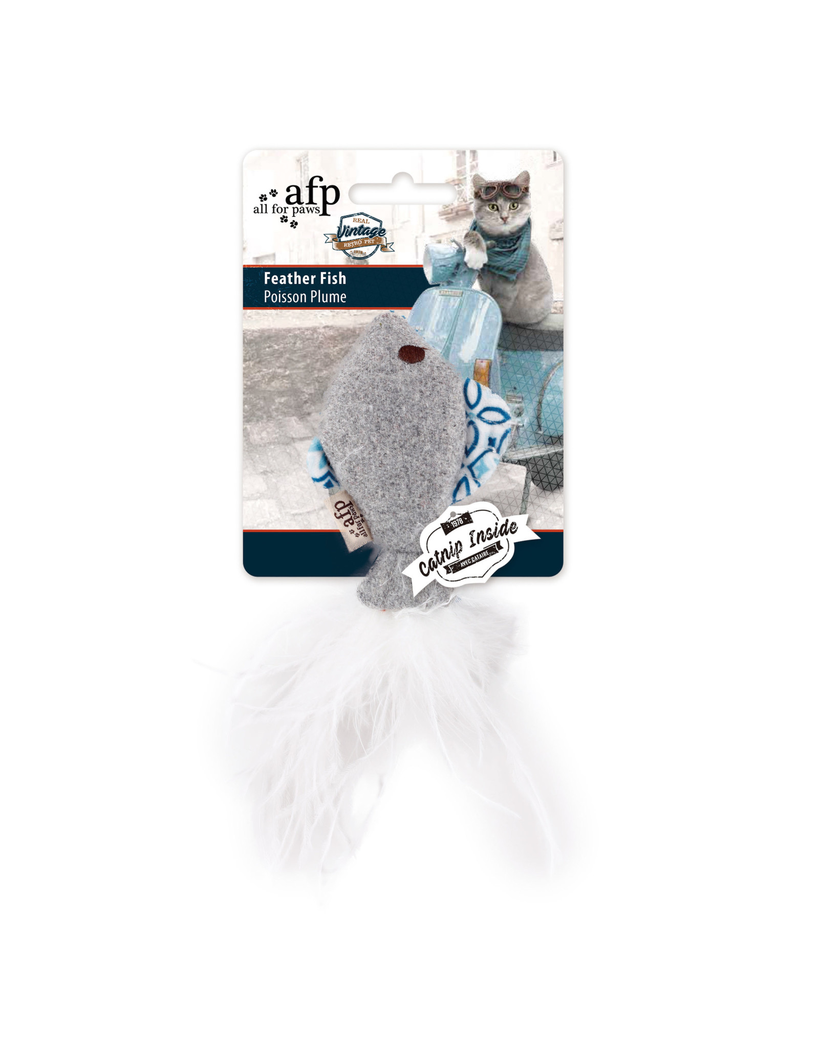 All for Paws Vintage Cat Feather Fish Assorted