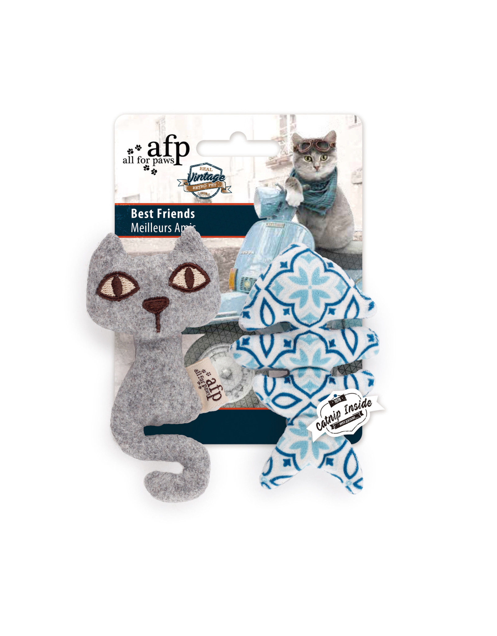 All for Paws Vintage Cat Best Friends Assorted
