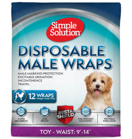 Simple Solution Simple Solution Disposable Male Wrap Size X-Small 12pk