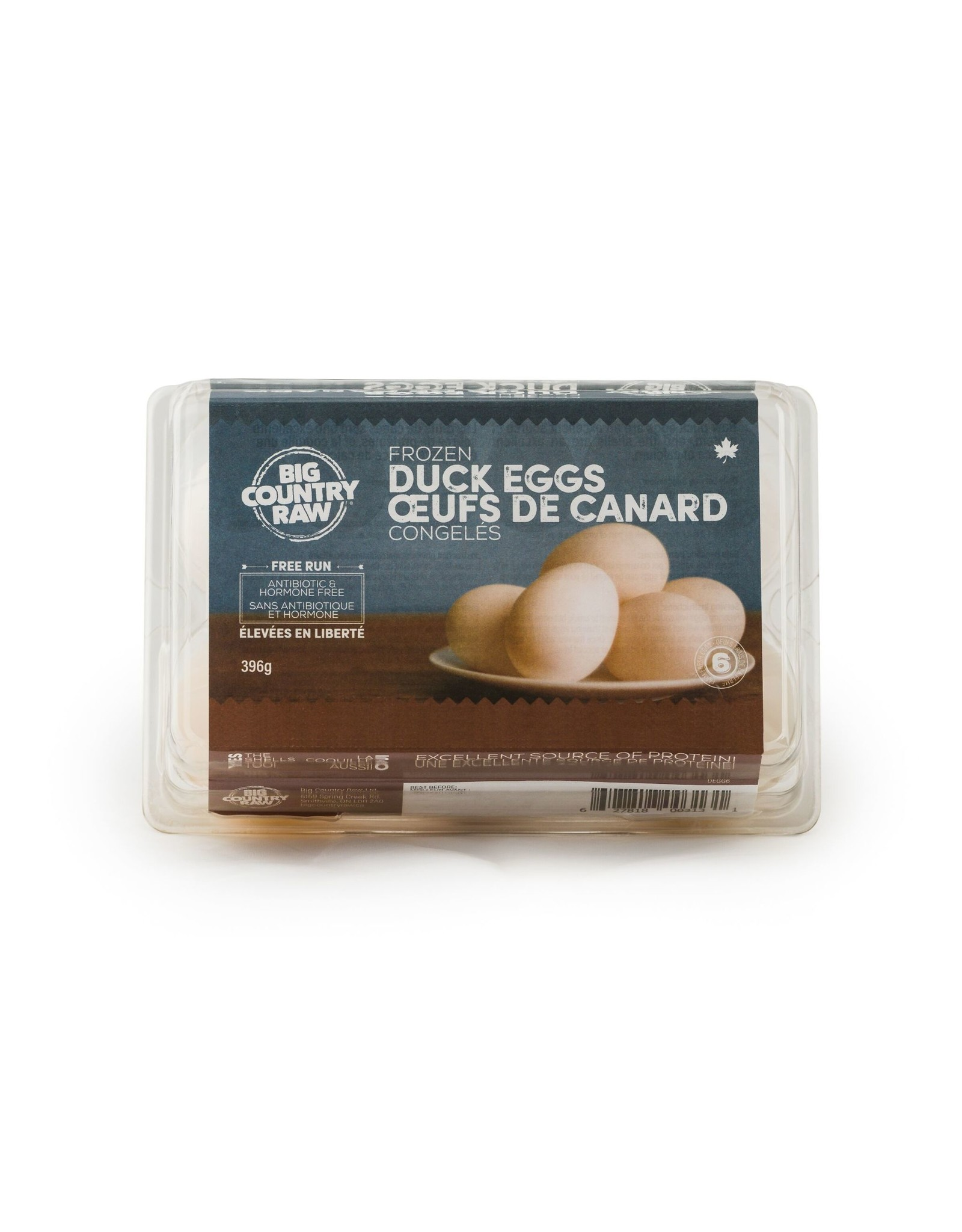 Big Country Raw Frozen Duck Eggs 6ct