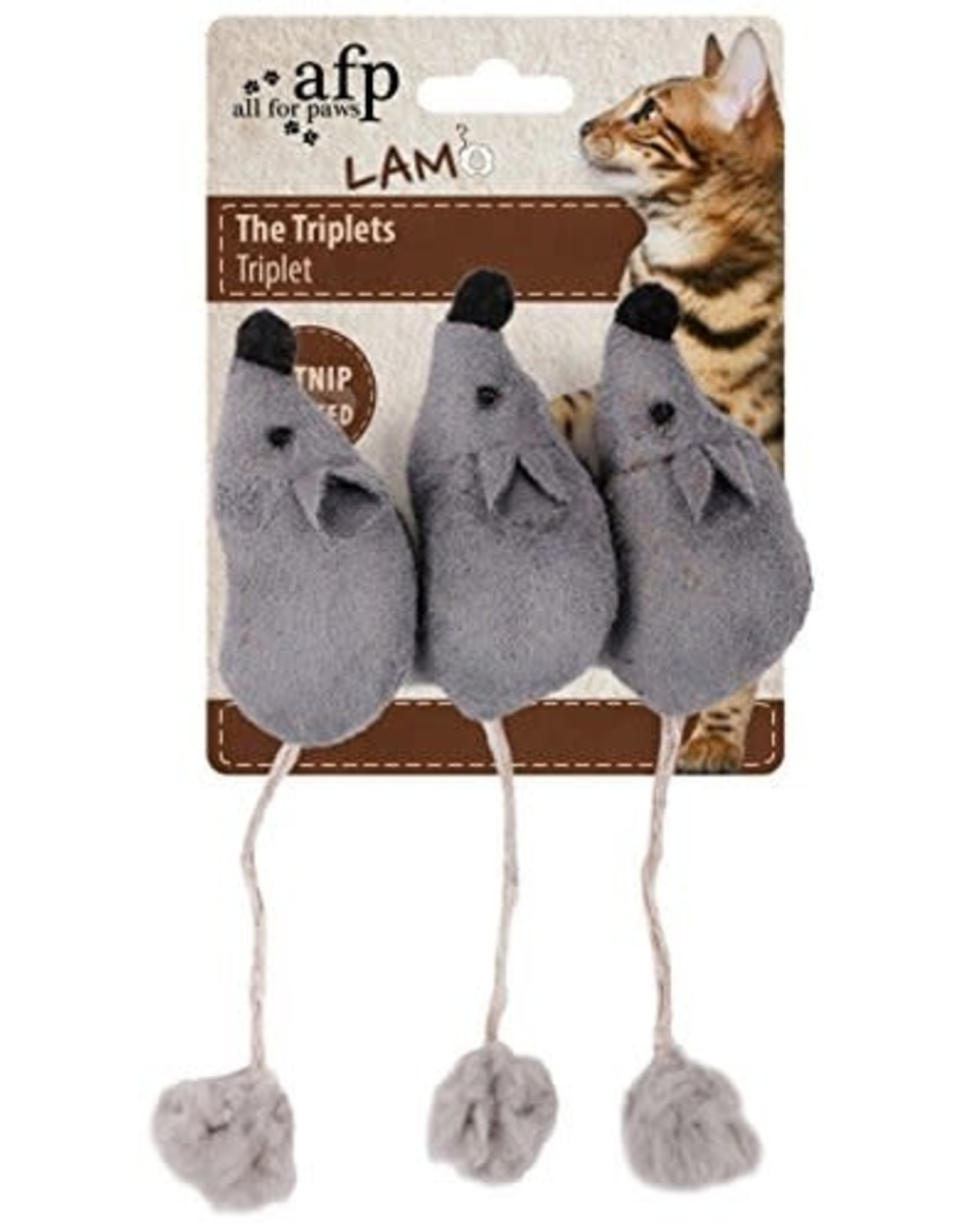 All for Paws All for Paws The Triplets Mice 3 Pack Assorted