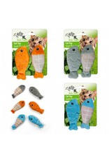 All for Paws Green Rush Catch Of The Day Fish 2 Pack Assorted
