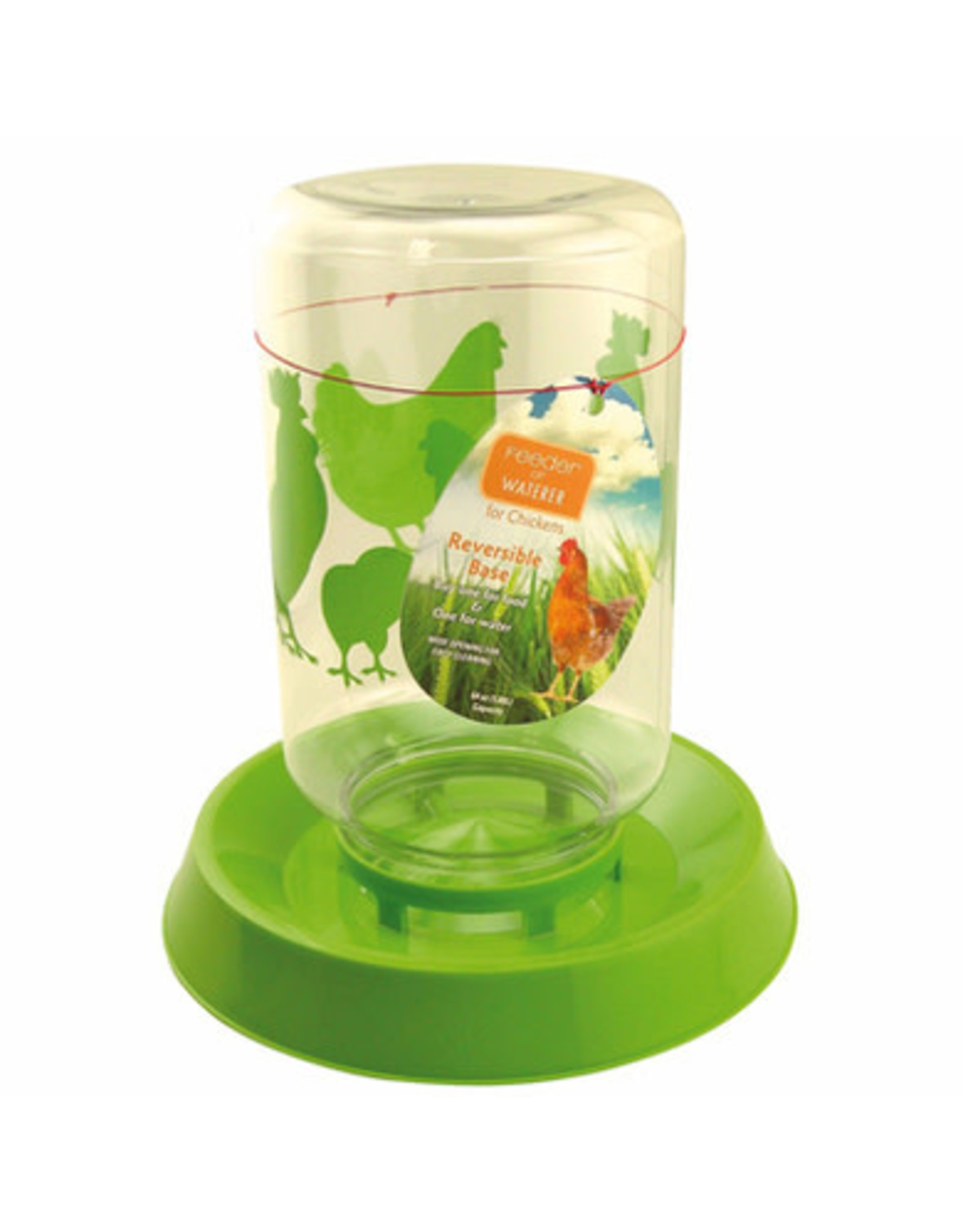 LixIt Lixit Reversible Chicken Feeder & Waterer - 64oz