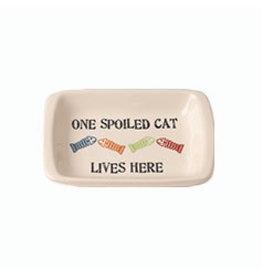 Petrageous One Spoiled Cat Saucer - 2.5oz