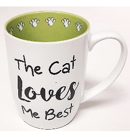 Petrageous The Cat Loves Me Best Mug 24oz