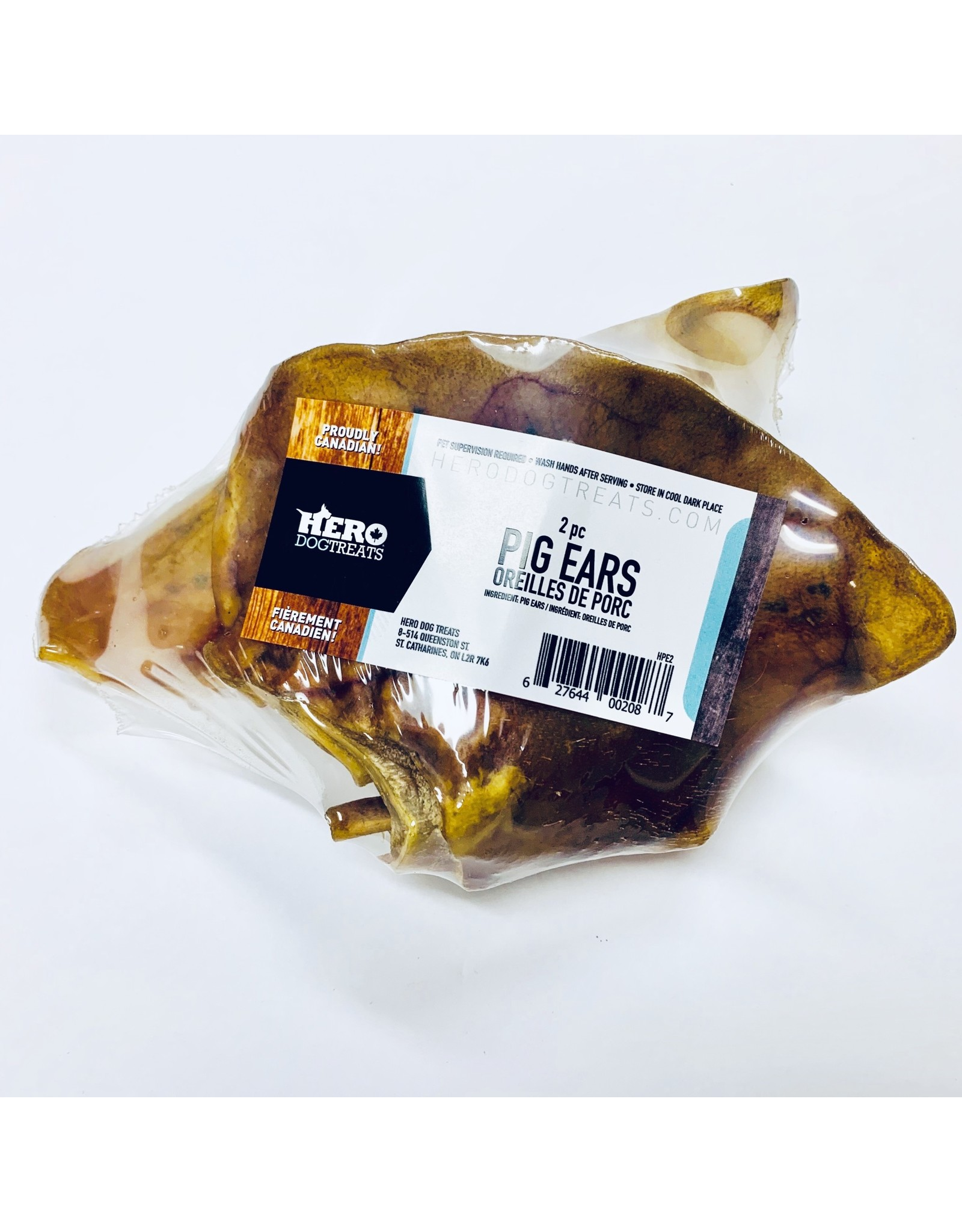 Hero Dehydrated Pig Ear 2 Pieces