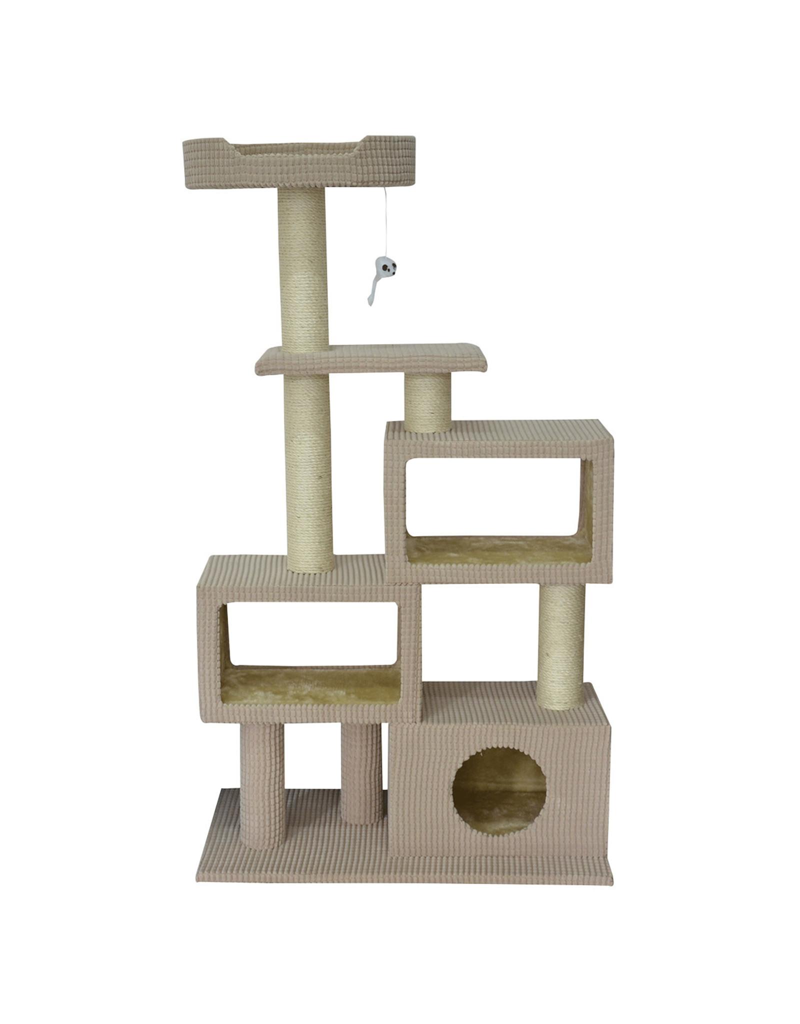 "Animal Treasures Cat Tree Scratcher Tower Condo 51"""