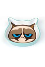 Petrageous Grumpy Cat Face Saucer - Blue