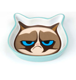 Petrageous Grumpy Cat Face Saucer - Blue