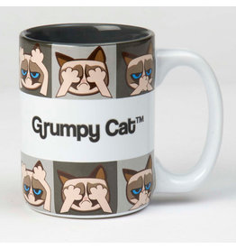 Petrageous Grumpy Cat Mug Grey 24oz