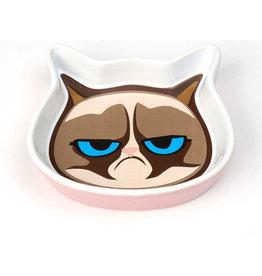 Petrageous Grumpy Cat Face Saucer - Pink