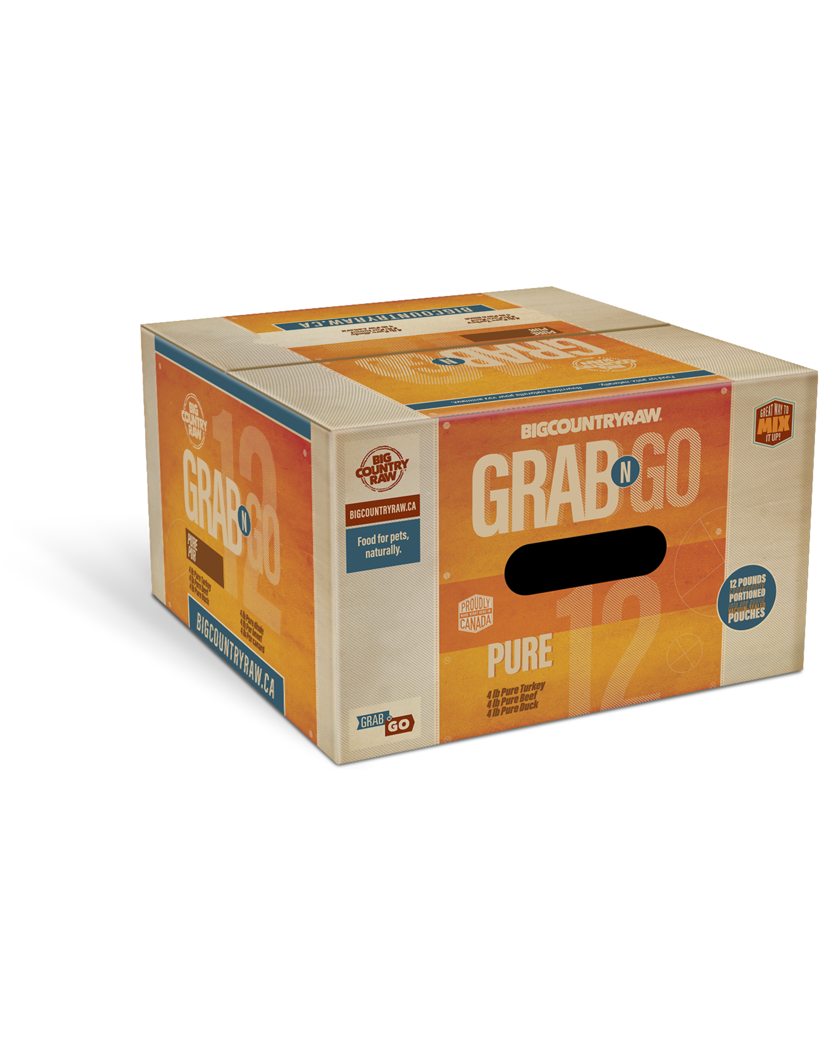 Big Country Raw Grab N Go Pure Deal - 12LB