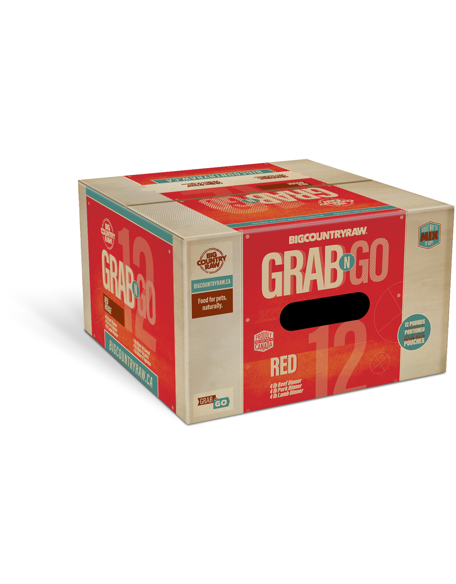 Big Country Raw Grab N Go Red Deal - 12lb