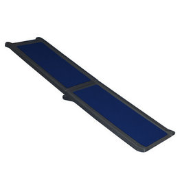 "Pet Gear Travel Lite Bi-Fold Full Ramp 66"" - Black/Blue"