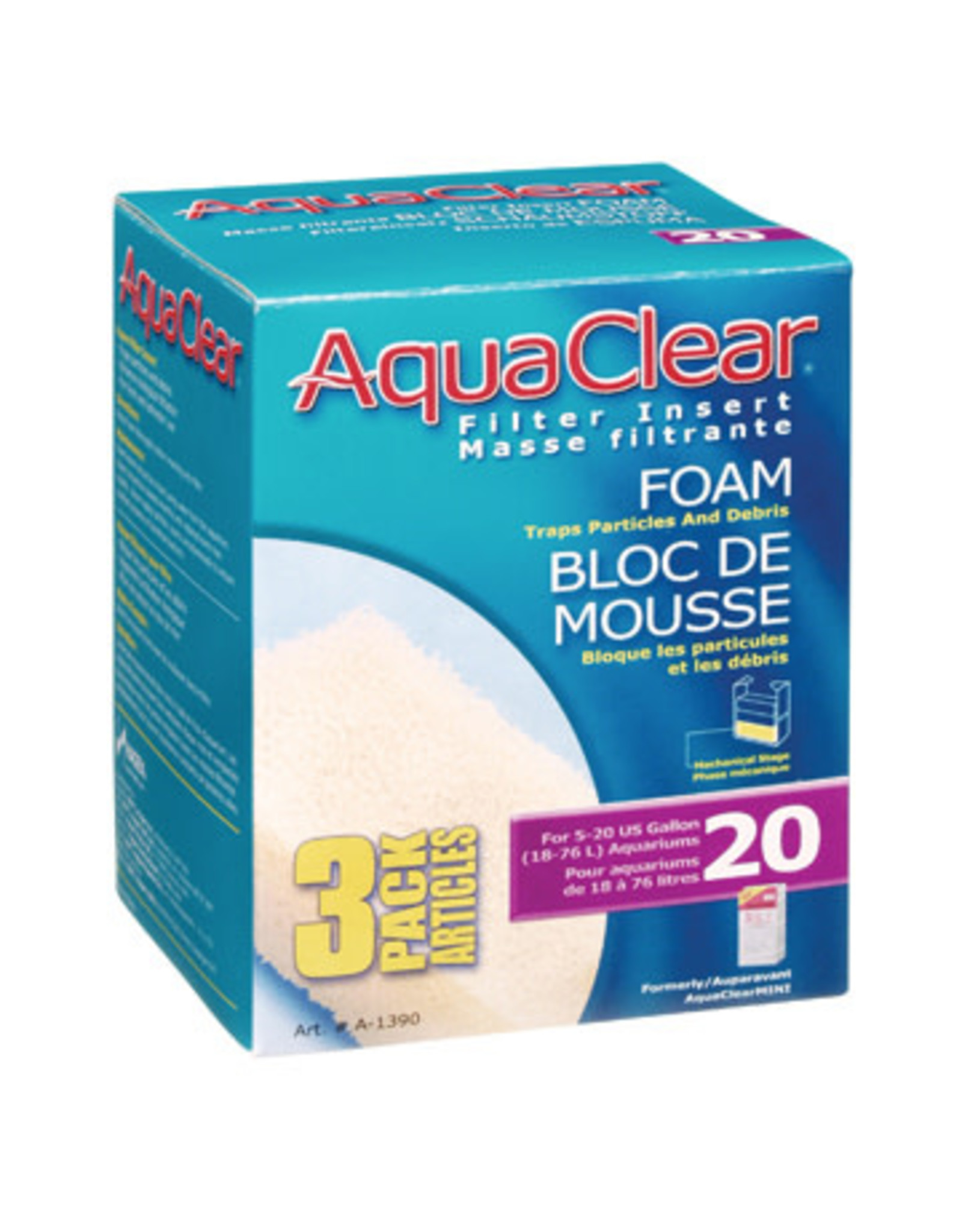 AquaClear AquaClear 20 Foam Filter insert 3 Pack
