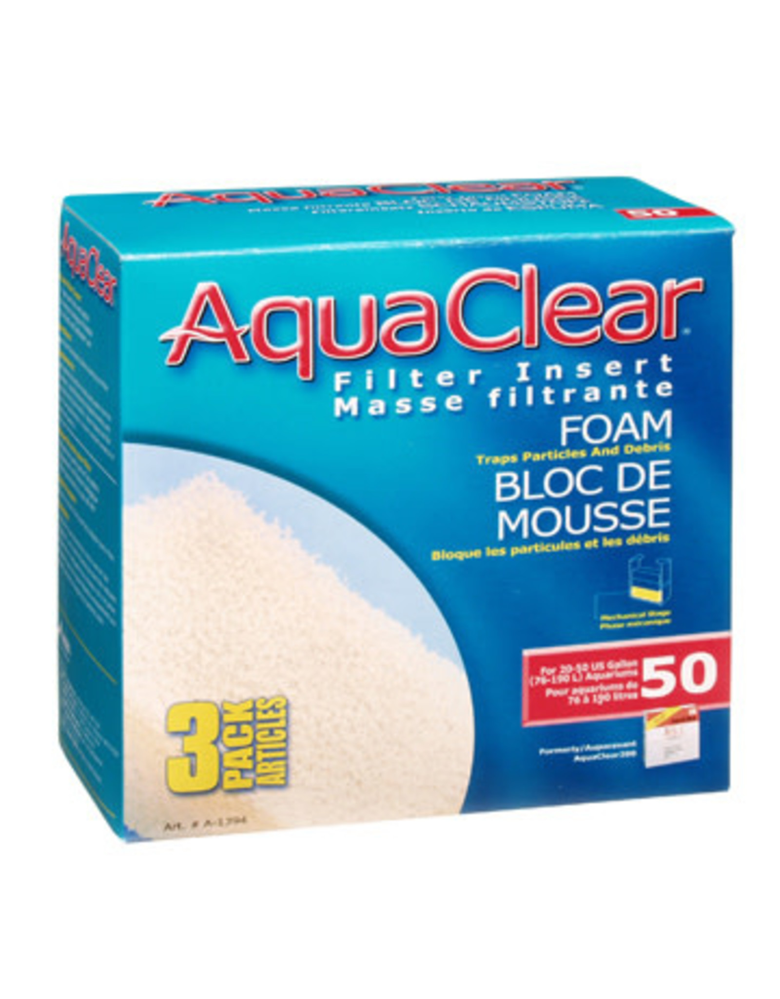 AquaClear AquaClear 50 Foam Filter insert 3 Pack