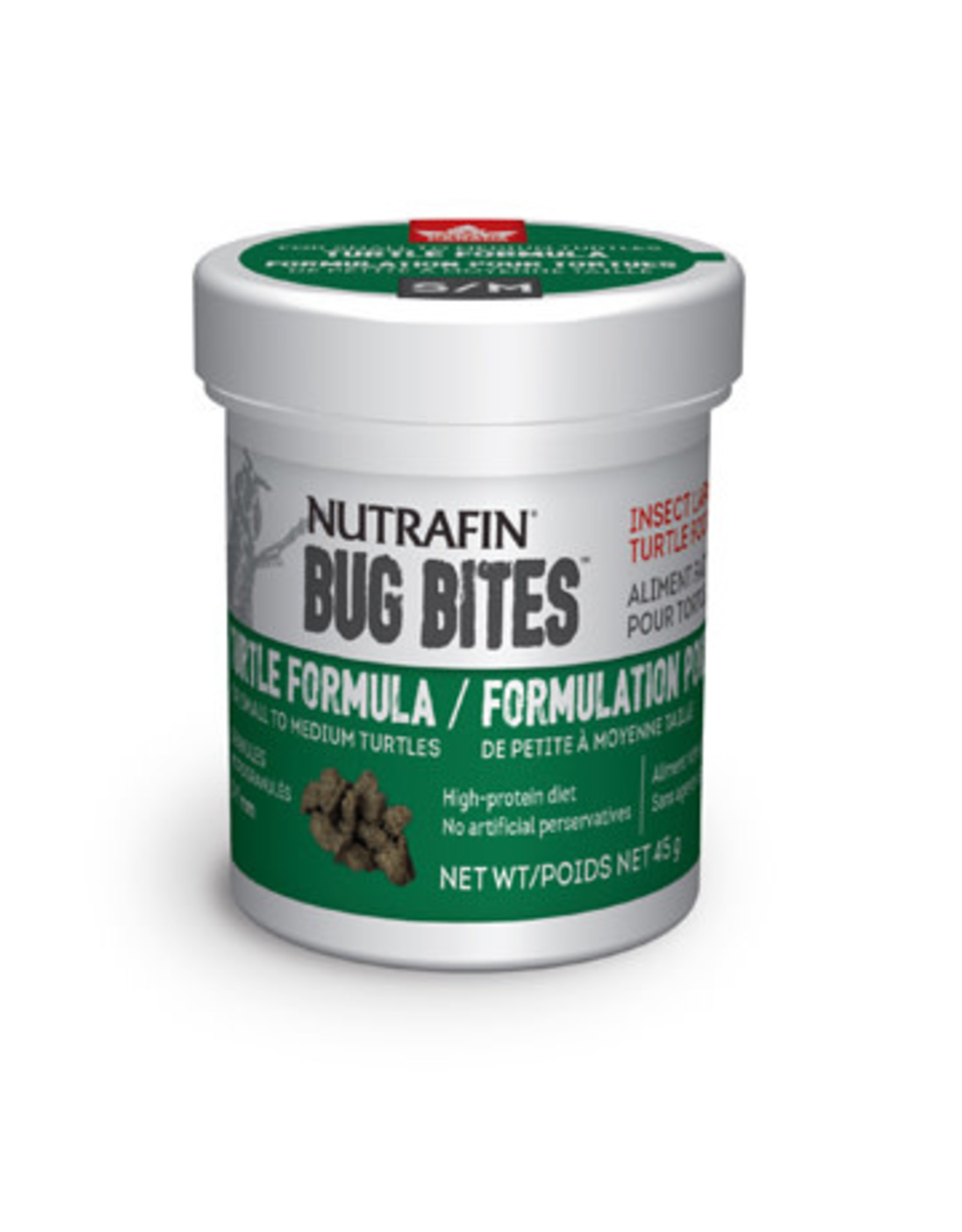Nutrafin Bug Bites Turtle Formula Small to Medium Turtles 5-7mm - 45g (1.6oz)