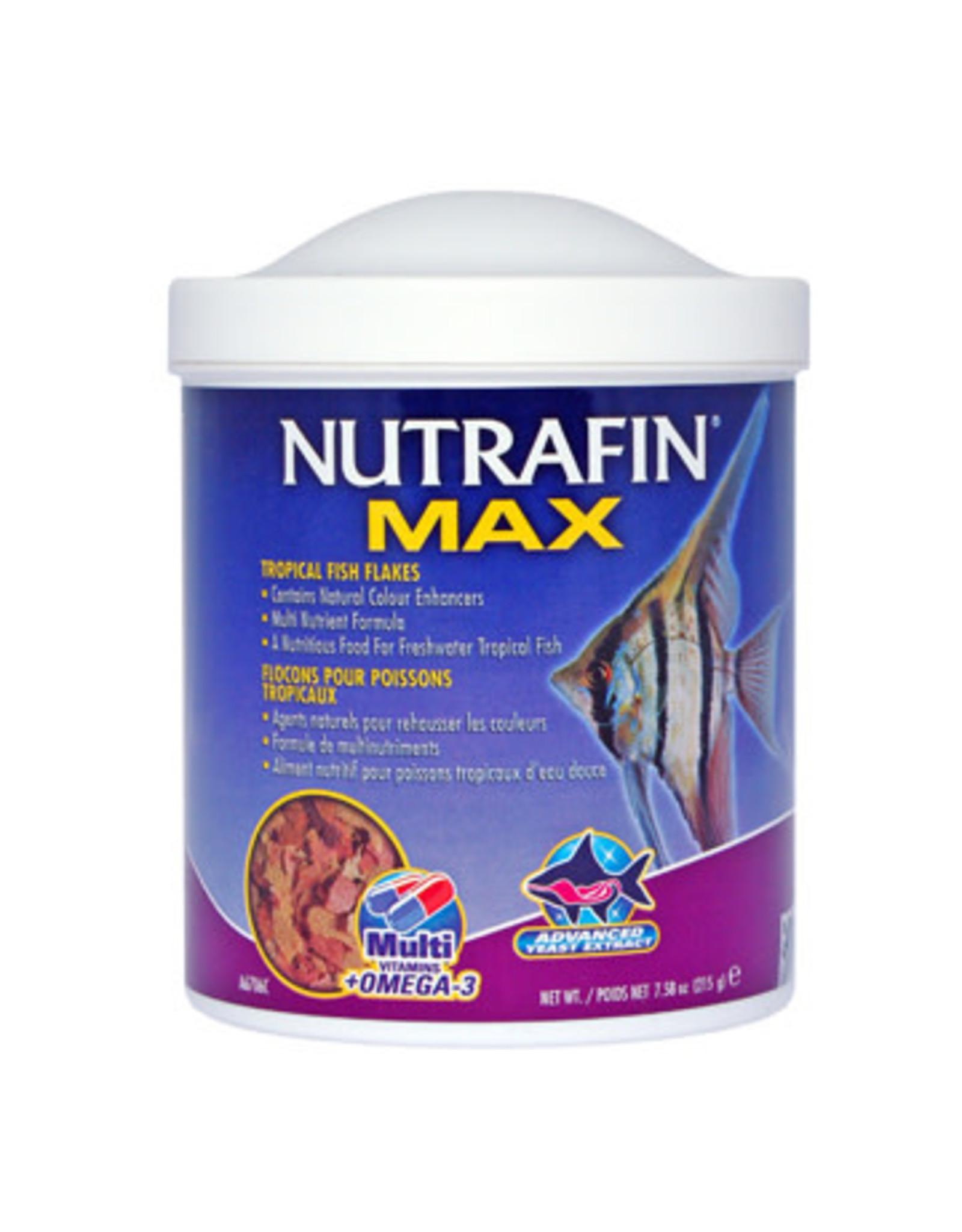 Nutrafin Nutrafin Max Tropical Fish Flakes, 215 g (7.58 oz)