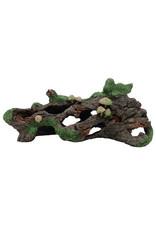 "Marina Marina Hollow Log with Moss Cover and Mushrooms - 10 1/2"" x 4 1/4"" x 5"" (26 x 10.5 x 13 cm)"