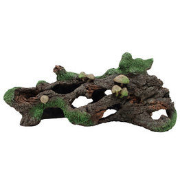 "Marina Marina Hollow Log with Moss Cover and Mushrooms - 10 1/2"" x 4 1/4"" x 5"" (26 x 10.5 x 13 cm)"