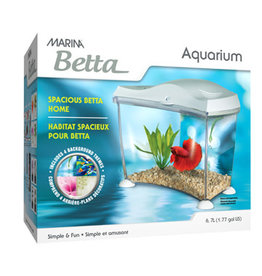 Marina Marina Spacious Betta Home - White - 6.7 L (1.77 US Gal)