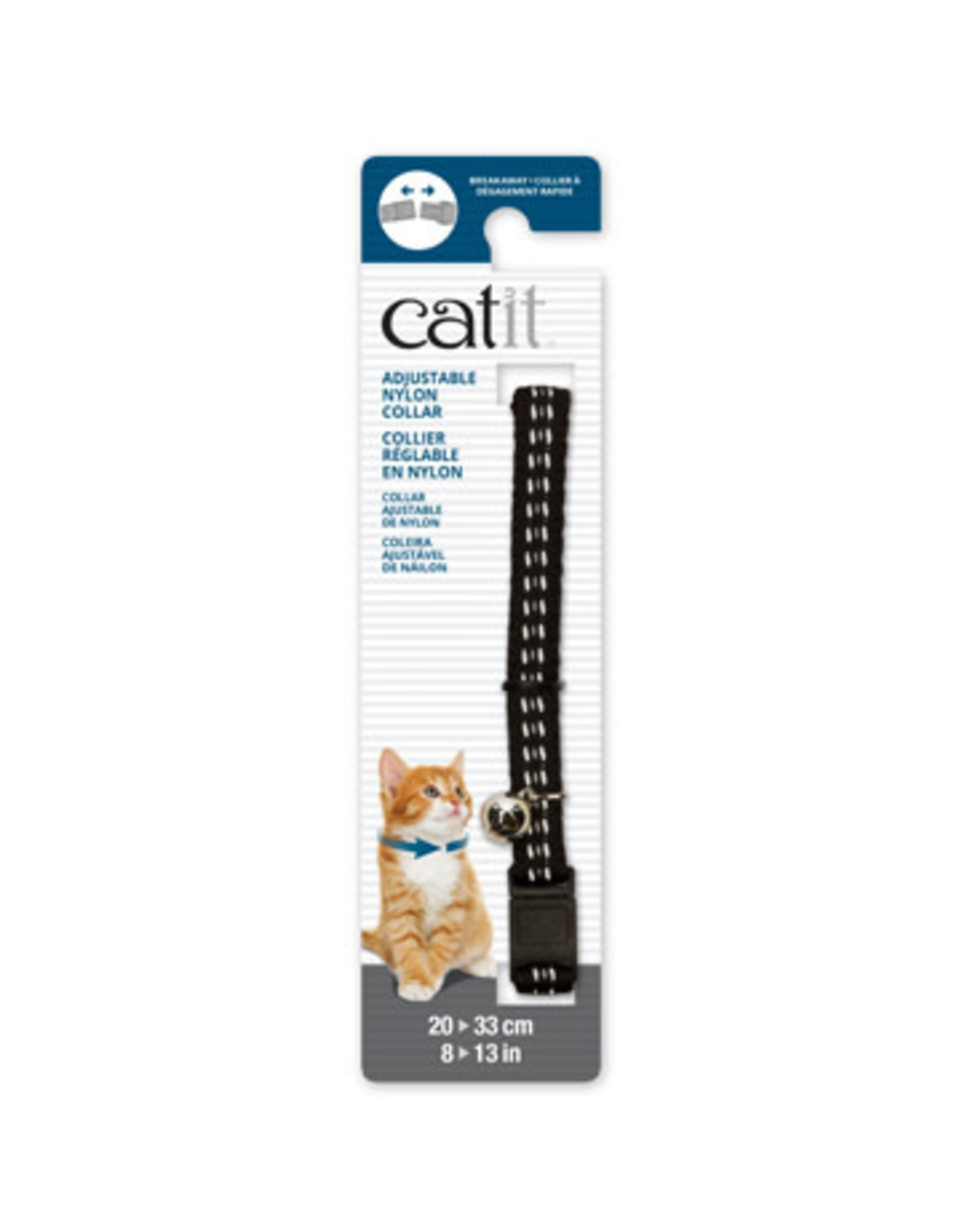 CatIt Adjustable Nylon Collar Reflective 20-33cm