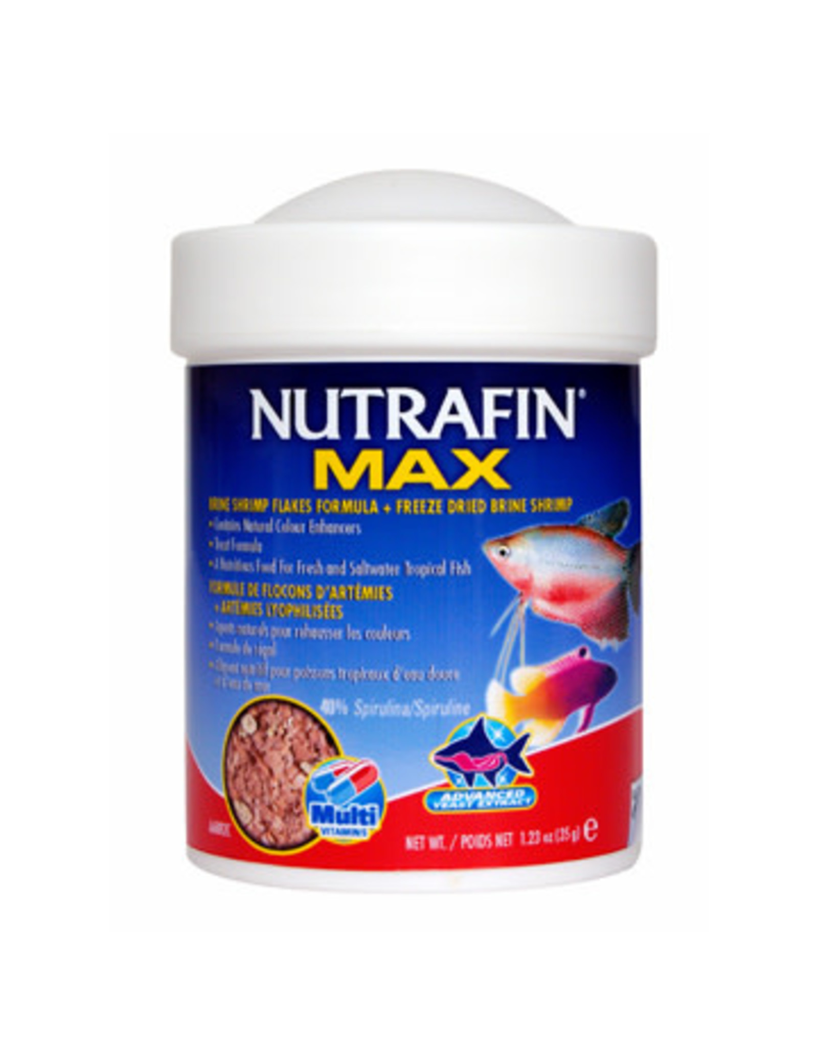 Nutrafin Nutrafin Max Brine Shrimp Flakes + Freeze Dried Brine Shrimp 35 g (1.23 oz)