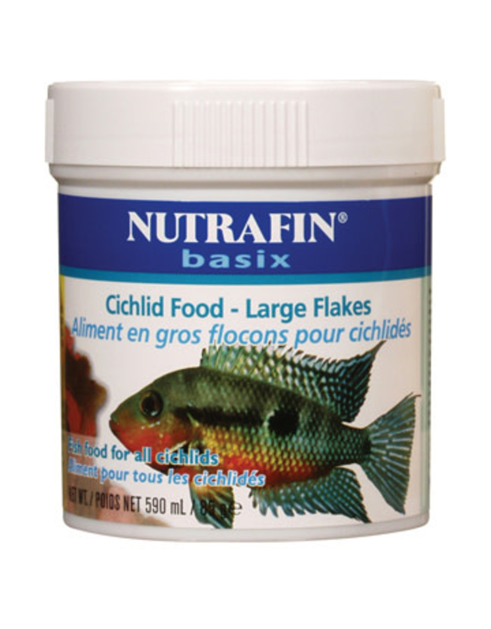 Nutrafin Nutrafin basix Cichlid Food, large flakes, 85 g (3 oz)