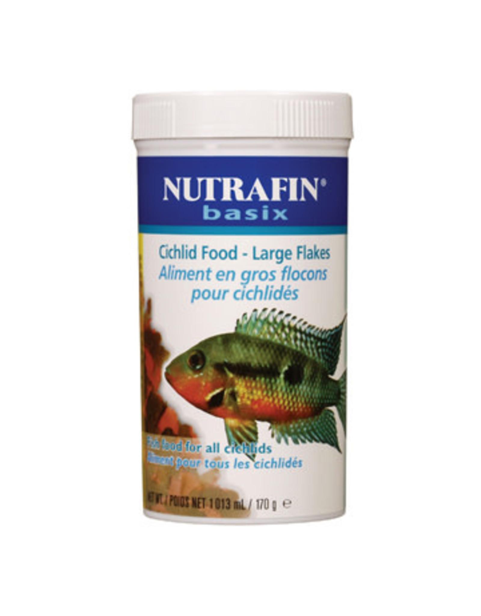 Nutrafin Nutrafin basix Cichlid Food, large flakes, 170 g (6 oz)