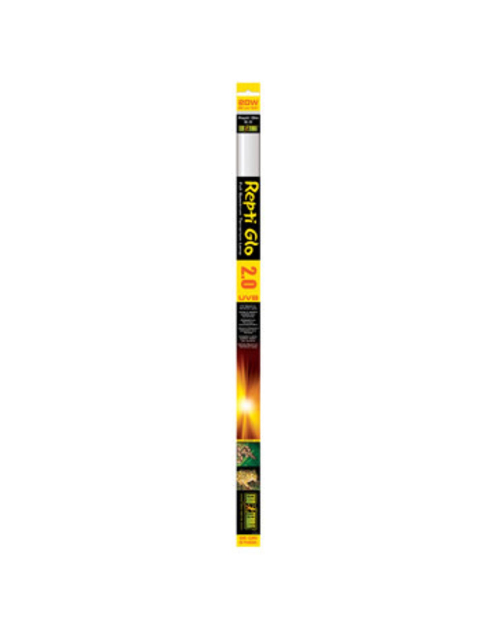 """Exo Terra Repti Glo 2.0 - Full Spectrum Terrarium Lamp - T8 / 24"""" - 60 cm - 20 W"""
