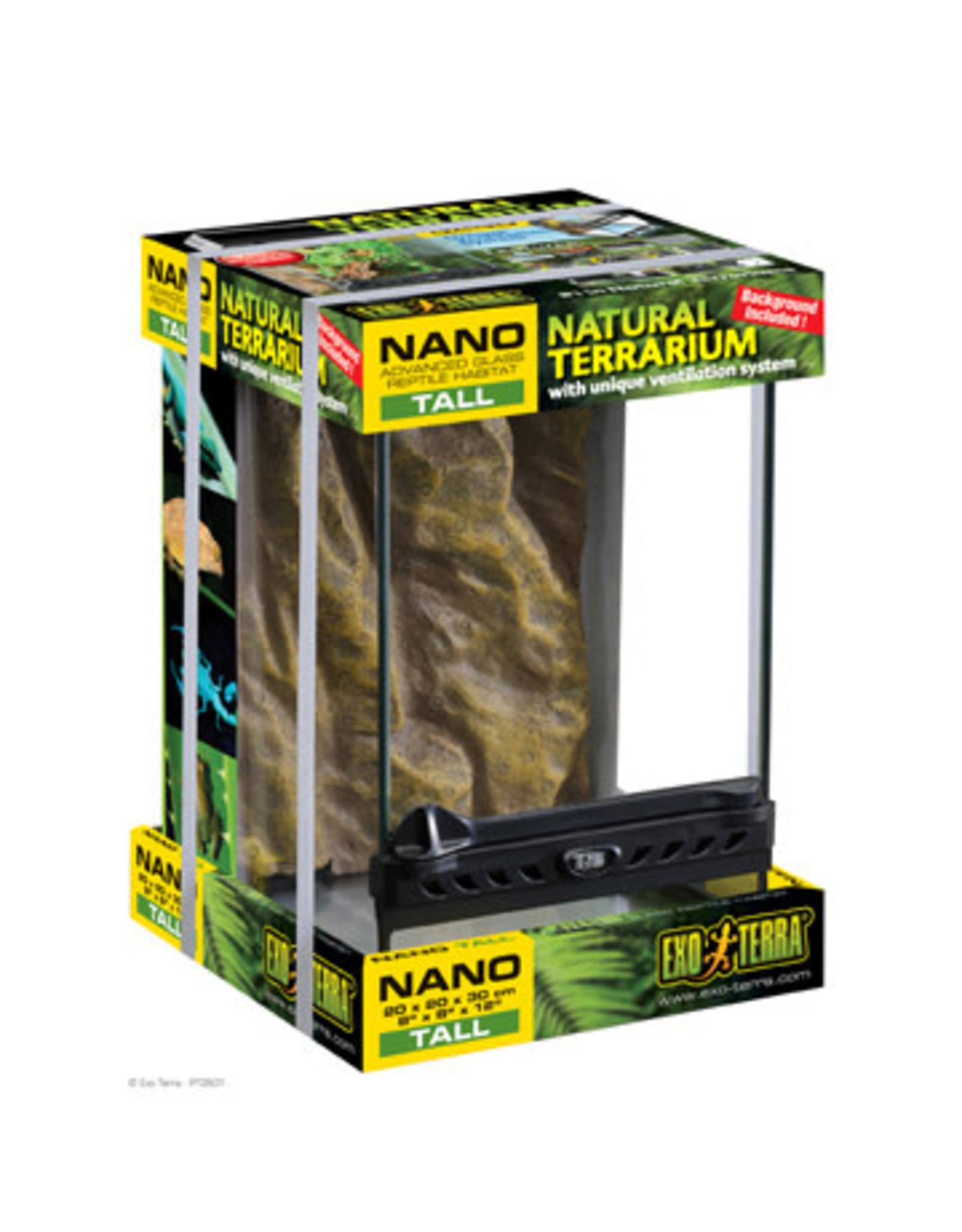 """Exo Terra Nano Tall Terrarium 20 x 20 x 30 cm (8"""" x 8"""" x 12"""")"""