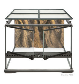 "Exo Terra Natural Terrarium - Advanced Reptile Habitat - Low, 18"" x 18"" x 12"""