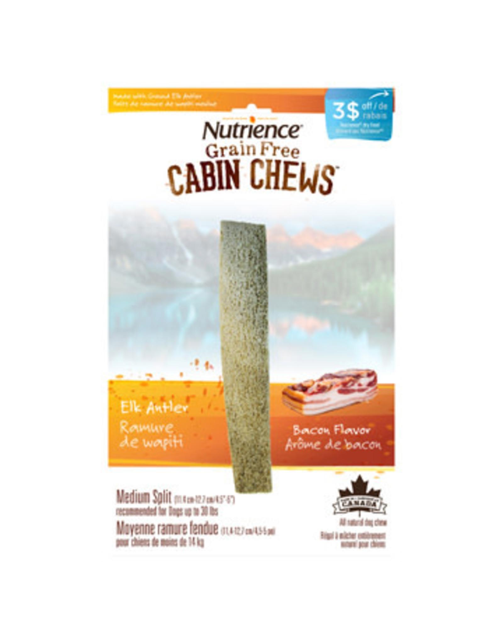 Nutrience Nutrience CabinChew Elk Antler Med Split Bacon