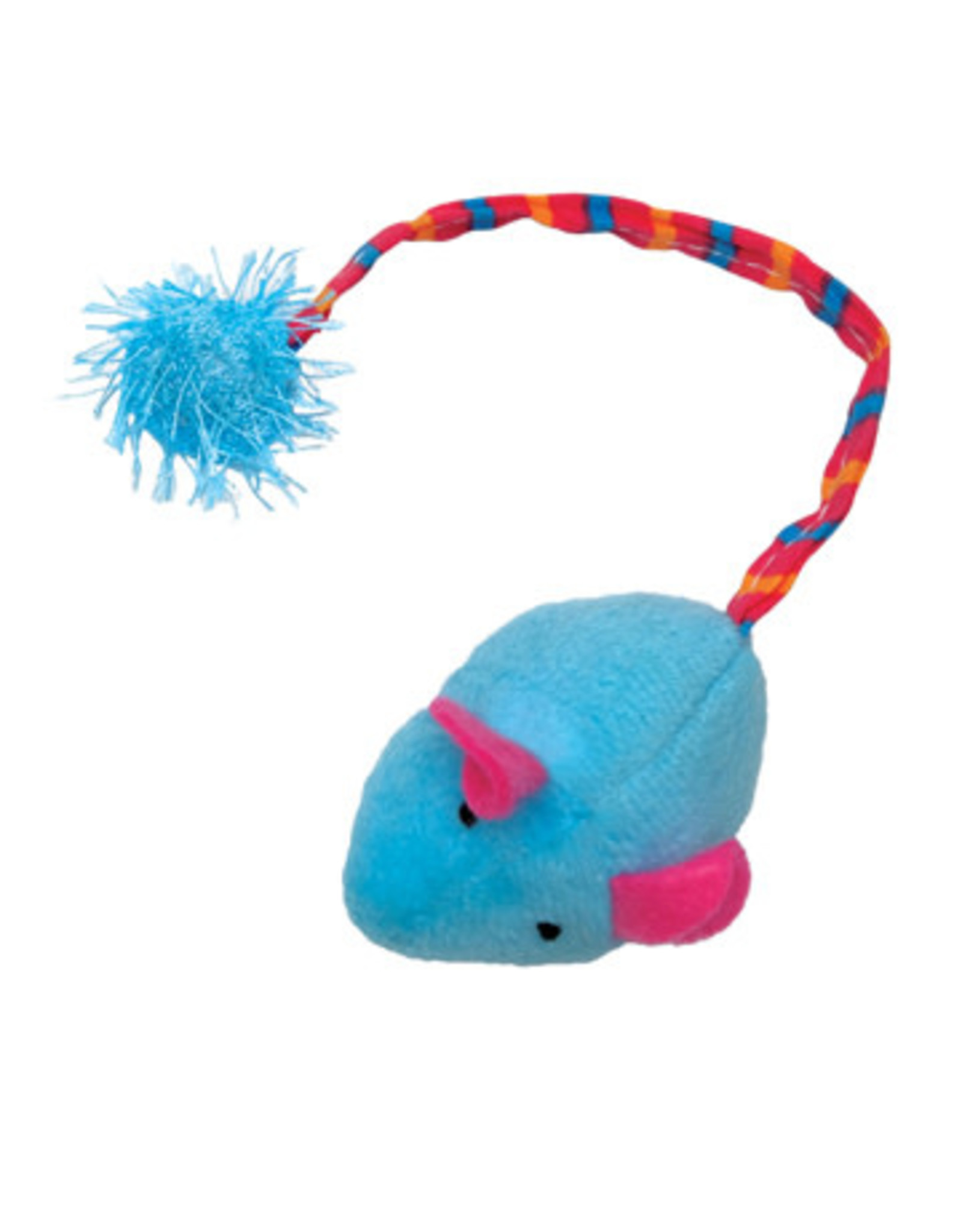 Cat Love Furry Frolics Blue Plush Catnip Mouse
