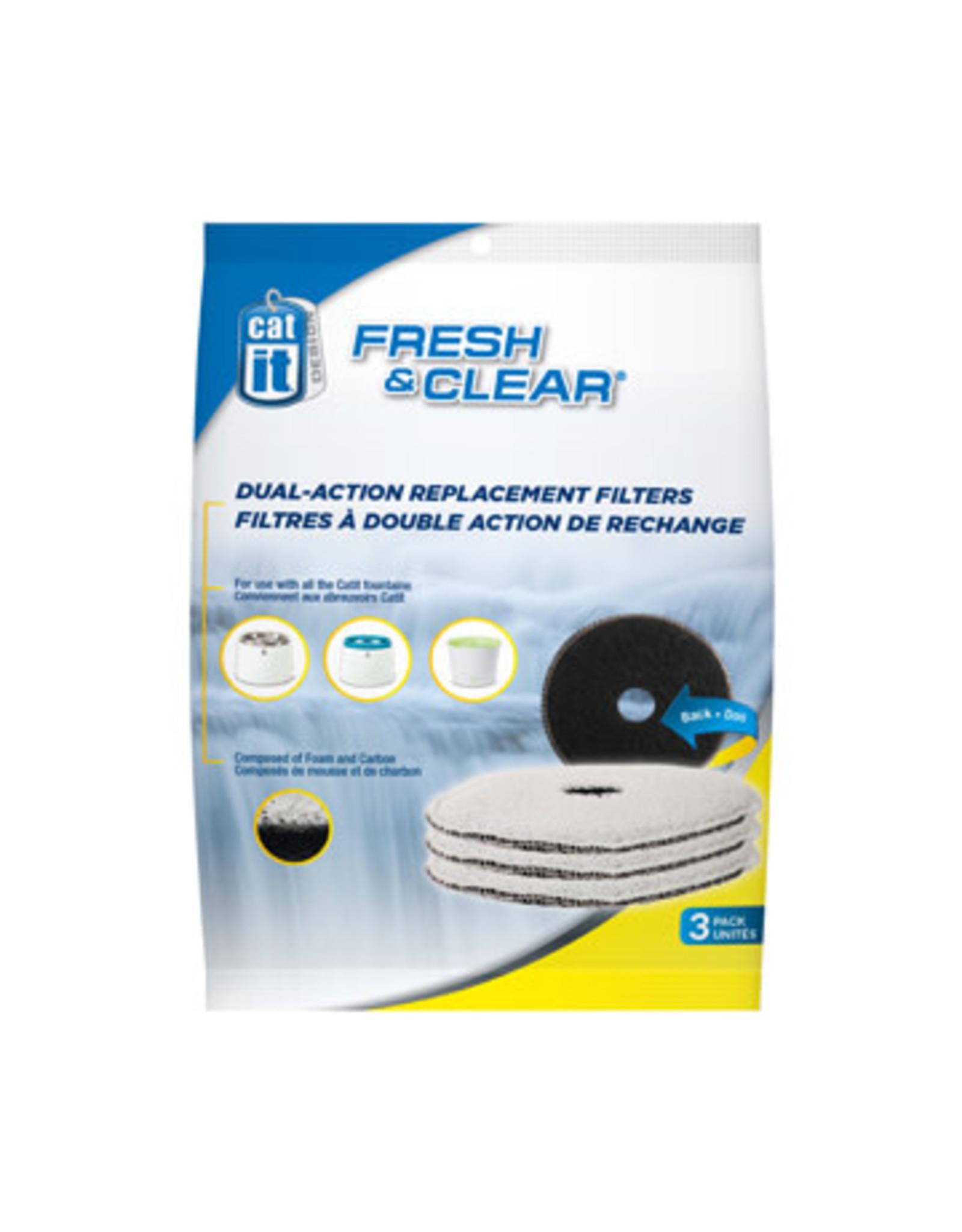 CatIt Fresh & Clear Foam/Carbon Filters 3 Pack