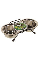CatIt Stainless Steel Double Cat Diner 2x250ml Dishes
