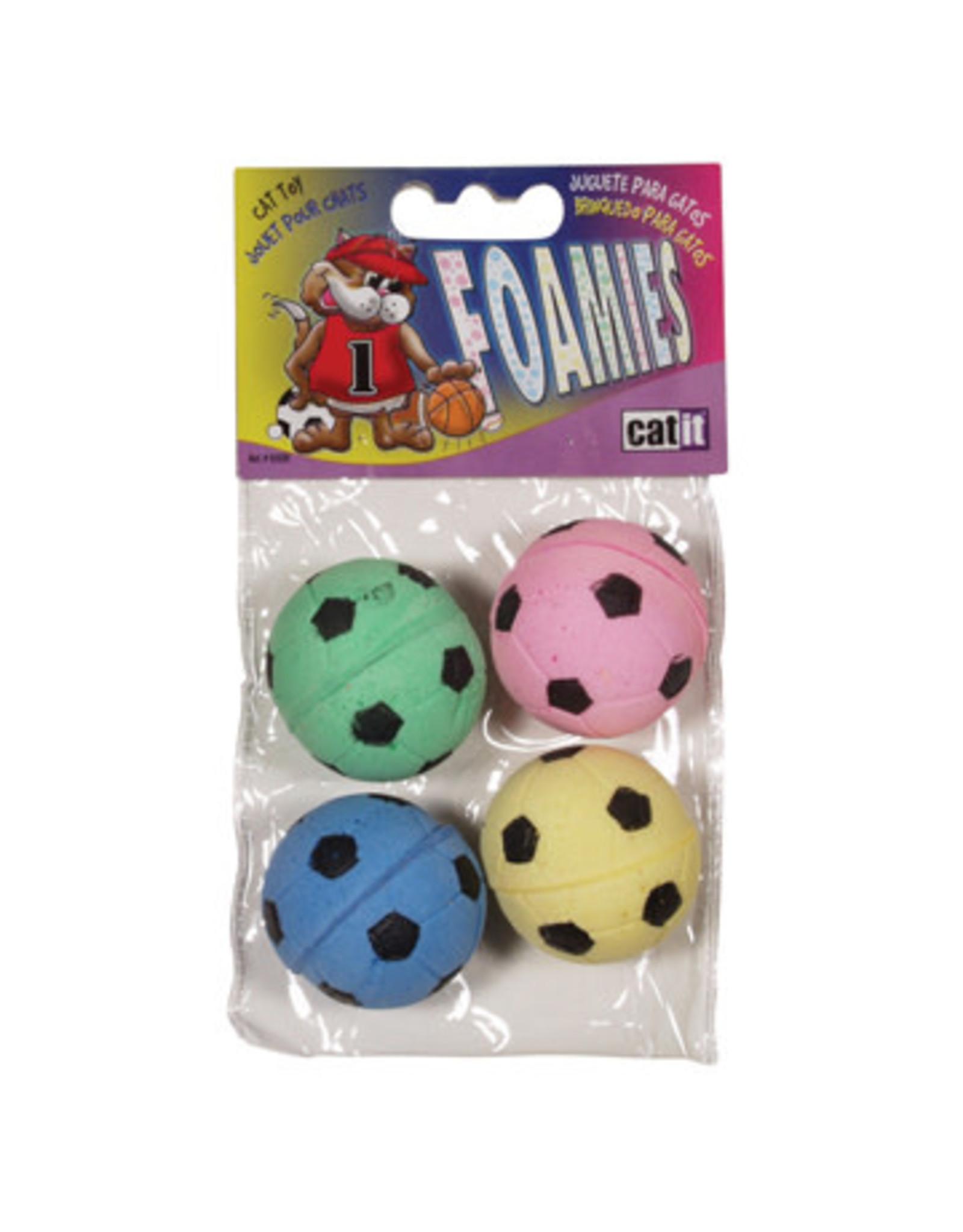 CatIt Foamies Sponge Soccer Balls 4 Pack