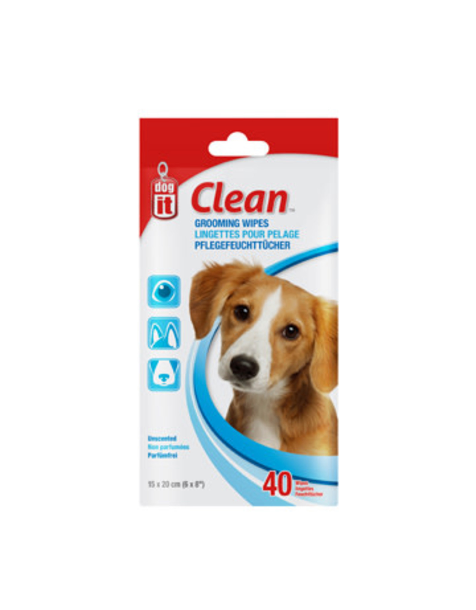 DogIt Grooming Wipes - 40 Unscented Wipes