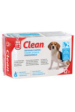 "DogIt Diapers Medium 12 Pack 15-35lb/16.5-21"" Waist"