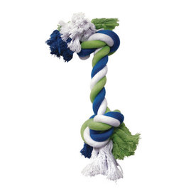 DogIt Knotted Rope Toy Multicoloured Rope Bone M