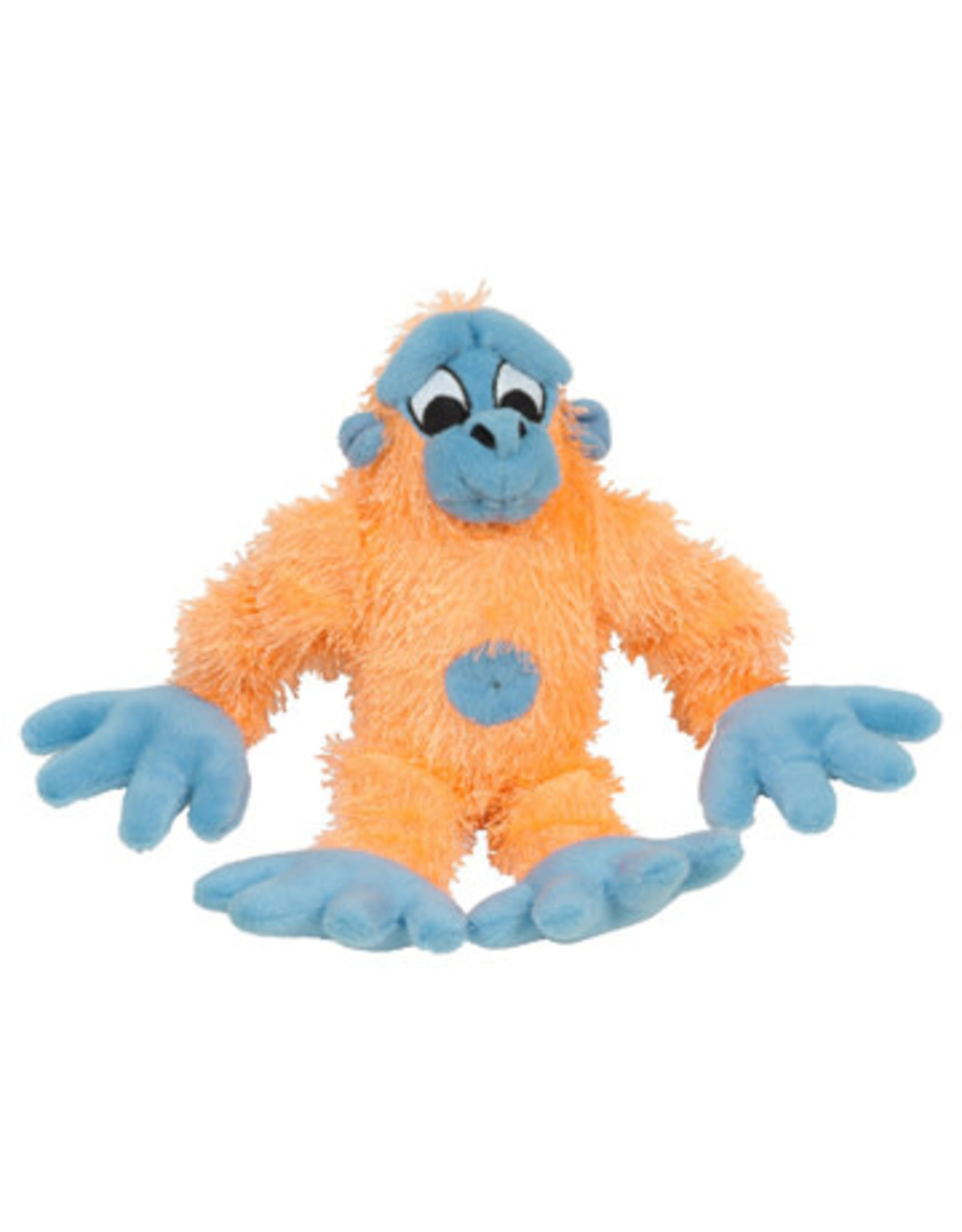 DogIt Orange Gorilla Plush Dog Toy with Squeaker